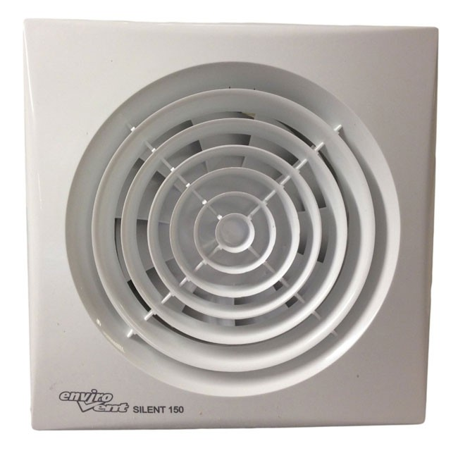 Quiet Bathroom Light Pull Switch: Envirovent SIL150P Axial Silent Extractor Fan 150 Mm / 6