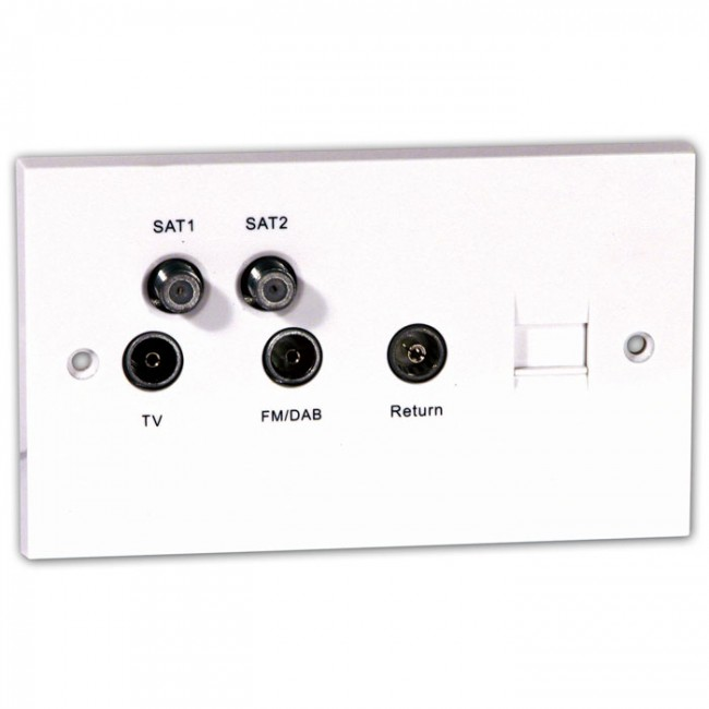 labgear psw351t quadplexer tv  fm  dab sky   u0026 phone outlet